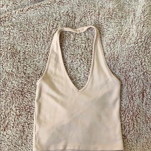 halter top, light pink